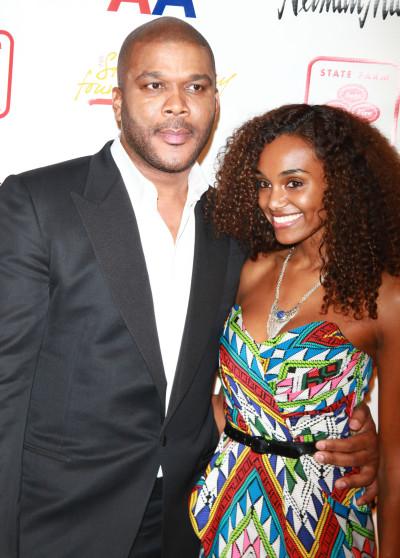 Tyler Perry and Gelila Bekele