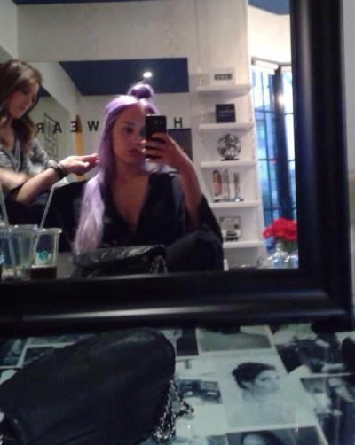 Amanda Bynes: Purple Hair Photo