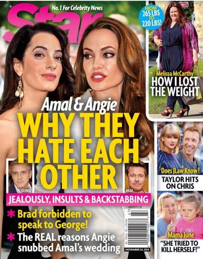 Angelina Jolie and Amal Alamuddin Star Magazine Cover