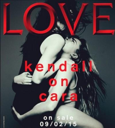 Kendall Jenner, Cara Delevingne Love Magazine